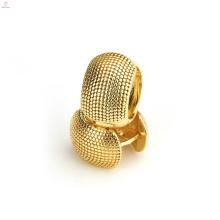 Fashion Wedding Earring Copper Gold Plated Brass Hoop Earrings