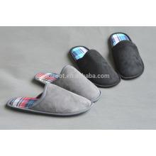 custom micro suede quiet women/men indoor outdoor warm soft sole slipper