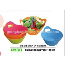 Горячие продажи индивидуальный цвет и упаковки отнять пластиковые Салатница с крышкой