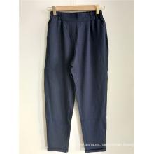 Pantalón recto de cintura alta para mujer
