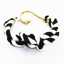 RUNDA venda quente MOQ pequeno de algodão corda âncora marinheiro nó pulseira