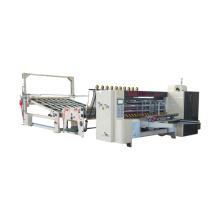 Fully automatic die cutter corrugated cardboard carton making machine