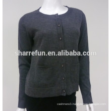 wholesale flat knitted women's pure cashmere cardigan sweater