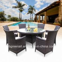 Mesa de comedor de ratán al aire libre (GN-8623D)