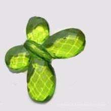 Granel charme contas acrílicas em forma de borboleta contas transparentes