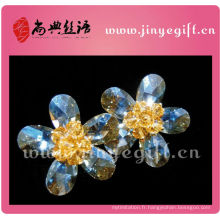 Guangzhou Shangdian Bling cristal coeur moyen Zircon femmes boucle d'oreille