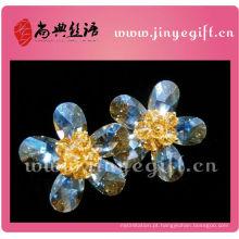 Brinco de cristal médio das mulheres do zircão do coração de Bling Shangdian de Guangzhou