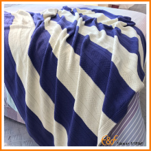 2-Color Stripe Superior All-Season Cotton Blanket
