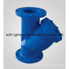 DIN Standard Pn10 Y Type Filtre en fonte
