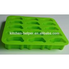 2015 New Product Professional Manufacturer Alimento Grade Non-stick Desenho Car Forma Silicone Gelo Bandeja / Molde de Gelo