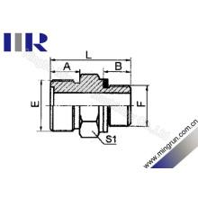 Macho Métrico O-Ring / Bsp Macho O-Ring Adaptador Bico Hidráulico (1EG)