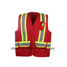 New Fashion and High Quality Reflective Safety Vest with Waterproof Oxford Fabric