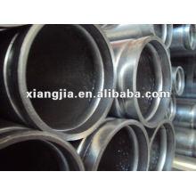 Tubo de acero galvanizado por inmersión en caliente (extremo de doble ranura)