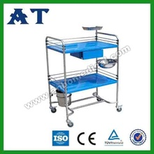 S.S. dressing trolley for hospital