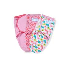 cobertor swaddle bebê fofo infantil musselina swaddle ajustável