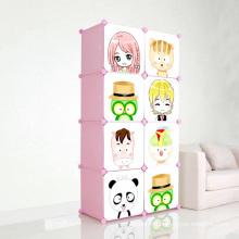 Cartoon DIY Armoires de rangement en plastique pour enfants (ZH001-5)