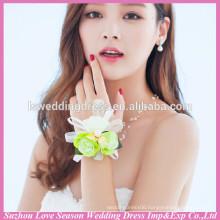 WS0007 flower charm cuff bracelet ring set fashion bangle wristband royal accessories female jewelry