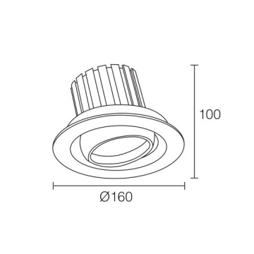 COB Watt Brilliant 30W LED Downlight