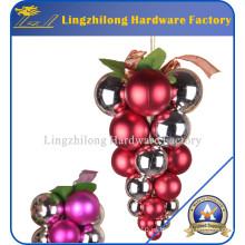 Yoland 24CT Barril que platea los ornamentos multicolores de la bola de la Navidad