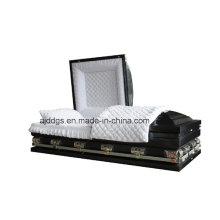 Neo azul sombreado caixão acabamento preto (tamanho grande)