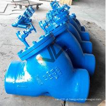 Filtro tipo Y de aço carbono com extremidade Bw