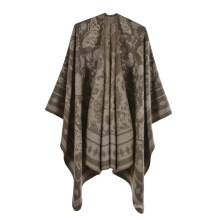 high quality Wholesale price designer Custom Logo jacquard winter floral  Shawl Scarf scarves for women's shawl