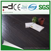 12mm Black Oak V-Bevelled American Style Laminate Flooring for Living Room