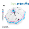 Высокое качество ПВХ прозрачный зонтик с цветочным кружева высокое качество ПВХ прозрачный зонтик с цветочным кружевом