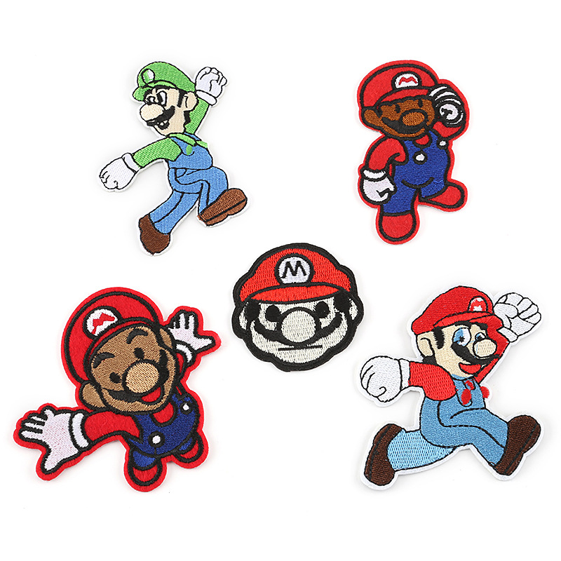 Super Mario Animation Embroidery Logo