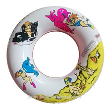 new arrival colorful swim ring PVC inflatable donut swim ring for sales
