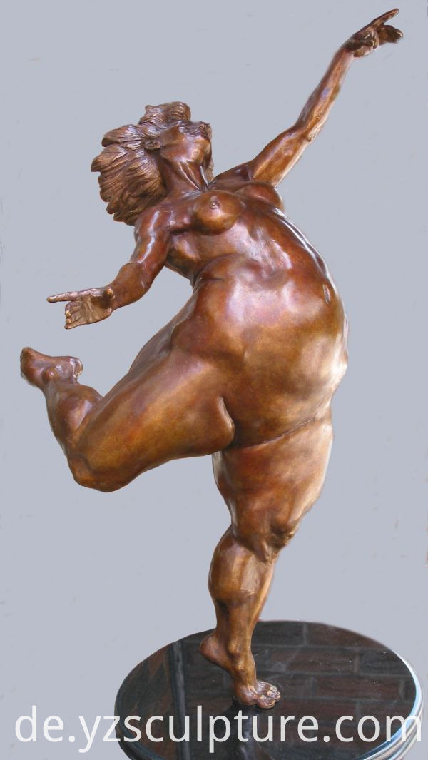 bronze dancer statue