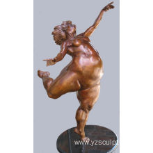Bronze Fat Woman Dancer Statue for Sale