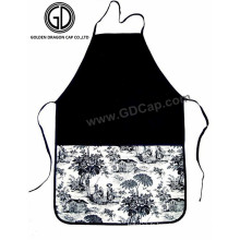 Tablier blanc coton noir personnalisé pour promotion ou cadeau