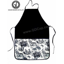 Custom Printing Cotton Black White Apron for Promotion or Gift