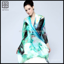 Moda de seda Digital Printed Lady Scarf