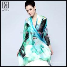 Fashion Silk Digital Printed Lady Scarf