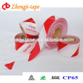 PE barricade red and white warning tape