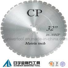 Lâmina de serra de diamante profissional para concreto armado