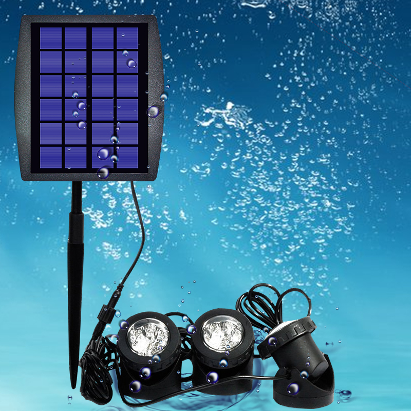 Underwater solar LED light
