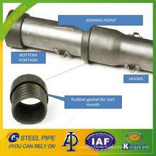 Bajo costo Push-Fit SISTEMA de acero al carbono tubo de registro sonico / tubo