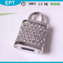 Os presentes de casamento bloqueiam a forma de cristal USB Flash Drive