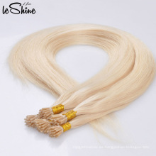 La keratina de calidad superior al por mayor I inclina 60 613 pelo humano de Remy de la Virgen que inclino la extensión del pelo