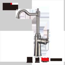 Haijun 2017 casa de luxo cozinha torneiras de água de aço inoxidável single hole 304