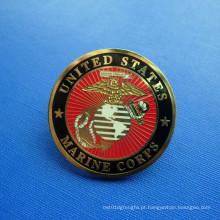 Emblemas do Corpo de Fuzileiros Navais dos EUA, Metal Ouro Lapel Pin (GZHY-LP-027)