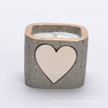 Hot Sale Smokeless Heart-shaped  soy wax ceramic scented candles