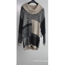 Winter Women Long Sleeve Patterned Knit Fit Sweater