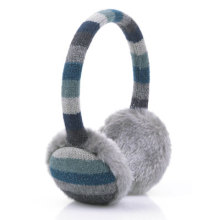 Stripe Knitted Warm Earmuff