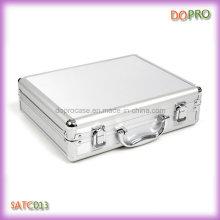 Boîte à outils en aluminium de petite taille en argent (SATC013)