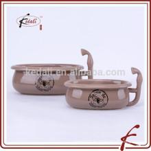 Nueva forma mini bañera de cerámica jabonera
