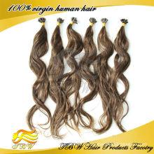 Moda brasileira cabelo pré-ligado / extensão do cabelo ponta U, cabelo de queratina